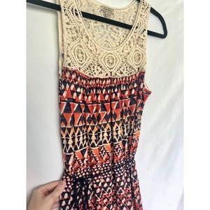 Lucky Brand Maxi Dress with Geometric Design